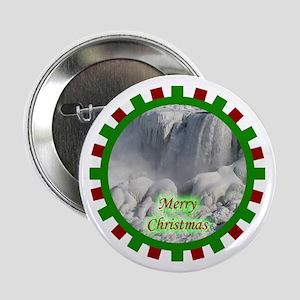 """Niagara Falls Christmas 2.25"""" Button"""