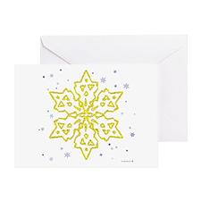 Gold Snowflake Greeting Card