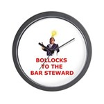 Bollocks To The Bar Steward Wall Clock