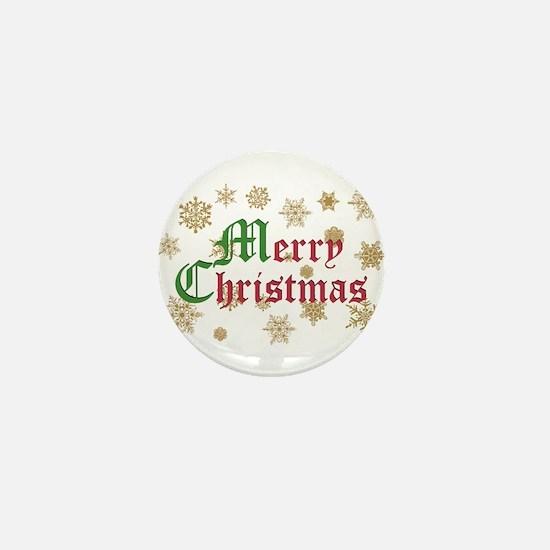 GOLDEN MERRY CHRISTMAS Mini Button (10 pack)