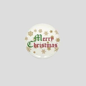 GOLDEN MERRY CHRISTMAS Mini Button