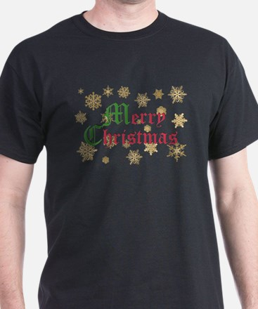 GOLDEN MERRY CHRISTMAS T-Shirt