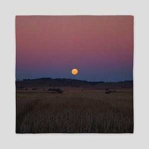 Moon over the wheat fields Queen Duvet