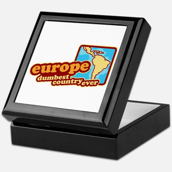 'Europe Dumbest Country' Keepsake Box