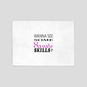 Wanna See Some Savate Skills ? 5'x7'Area Rug