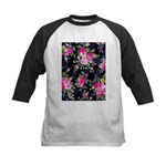 Rose Bouquets on a Black Background Baseball Jerse