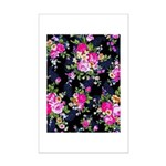 Rose Bouquets on a Black Background Poster Print