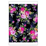 Rose Bouquets on a Black Background Poster