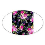 Rose Bouquets on a Black Background Sticker