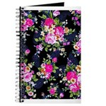 Rose Bouquets on a Black Background Journal