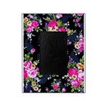 Rose Bouquets on a Black Background Picture Frame