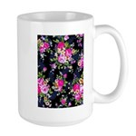 Rose Bouquets on a Black Background Mugs