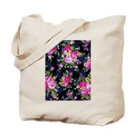 Rose Bouquets on a Black Background Tote Bag