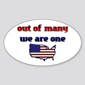 Out of Many, We are One- Obama Oval Sticker
