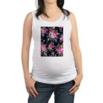 Rose Bouquets on a Black Background Tank Top
