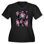 Rose Bouquets on a Black Background Plus Size T-Sh