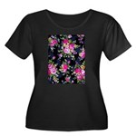 Rose Bouquets on a Black Background Plus Size T-Sh