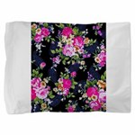 Rose Bouquets on a Black Background Pillow Sham