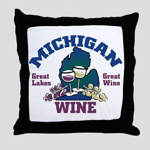 Michigan Wine Throw Pillow