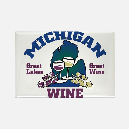 Michigan Wine Rectangle Magnet