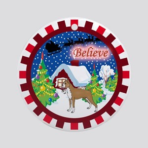 Believe Boxer Ornament (Round)