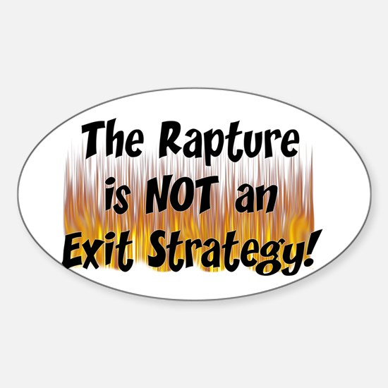The Rapture Oval Decal