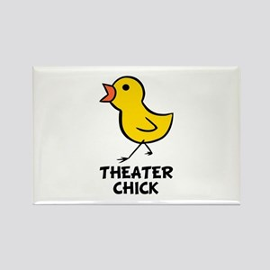 Theater Chick Rectangle Magnet