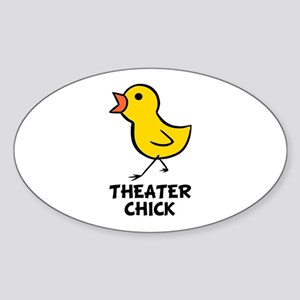 Theater Chick Oval Sticker