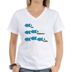 Counting in Tagalog Women's V-Neck T-Shirt