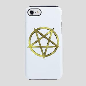 Inverted Gold Pentagram Iphone 8/7 Tough Case