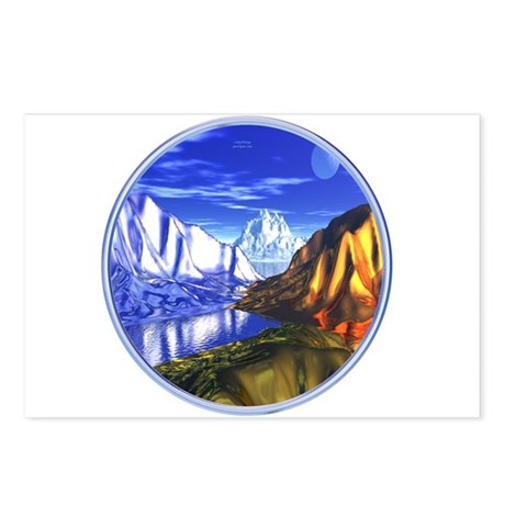 3D Metal Mountains Postcards (Package of 8)