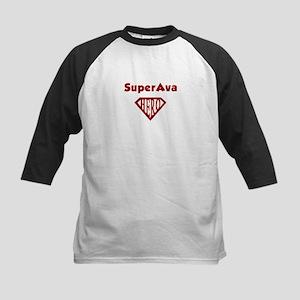 Super Hero Ava Kids Baseball Jersey