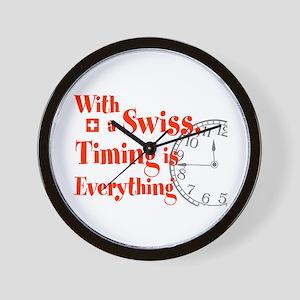 Swiss Timing Wall Clock