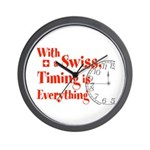 Swiss Timing Wall Clock