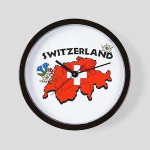 Swiss Map Wall Clock