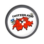 Swiss Map Wall Clock