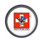Switzerland Floral Wall Clock