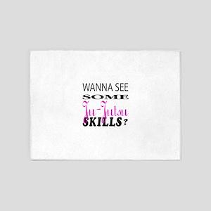 Wanna See Some Ju Jutsu Skills ? 5'x7'Area Rug