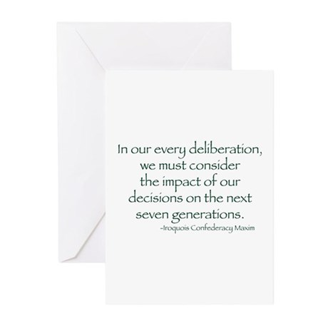 Seven Generations Greeting Cards (Pk of 10)