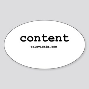 """""""content"""" Oval Sticker"""