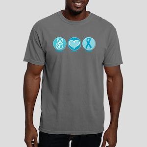 Peace Love Teal Hope Mens Comfort Colors® Shirt