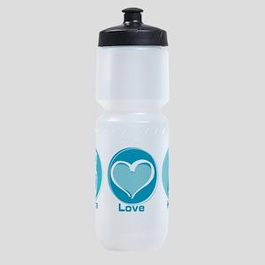 Peace Love Teal Hope Sports Bottle