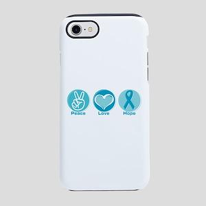 Peace Love Teal Hope iPhone 8/7 Tough Case