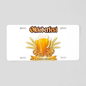 oktoberfest - milwaukee okt Aluminum License Plate