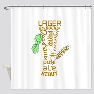Beer Glass Shower Curtain