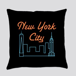 Cool, Unique, Retro New York City Everyday Pillow