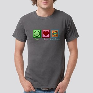 Peace Love Comic Books Mens Comfort Colors® Shirt