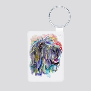 Wirehaired Pointing Griffo Aluminum Photo Keychain