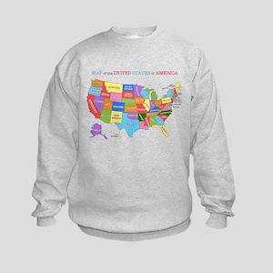 Rainbow Map of the USA Sweatshirt