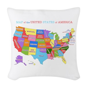 United States Pillows Cafepress
